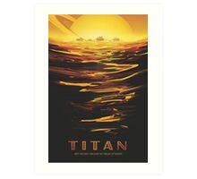 Titan Moon - Saturn Travel Poster Art Print