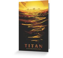 Titan Moon - Saturn Travel Poster Greeting Card