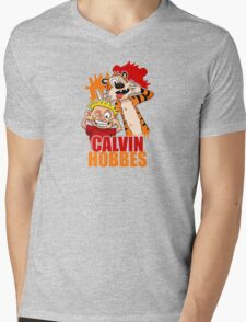 Calvin And Hobbes 2 Mens V-Neck T-Shirt