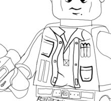 Lego Han Solo Outline Sticker