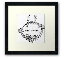 mon amour  Framed Print