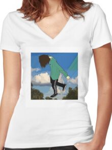 Teamsesh Women's Fitted V-Neck T-Shirt