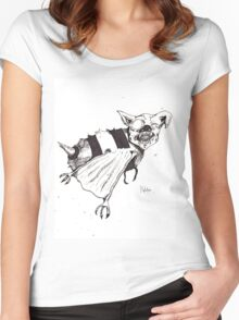 Bee Bat Women's Fitted Scoop T-Shirt