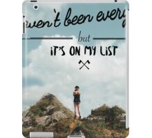 I haven't been everywhere landscape photography typography iPad Case/Skin