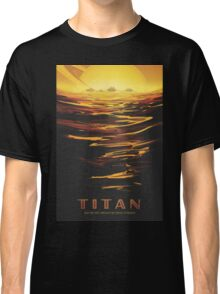 Titan Moon - Saturn Travel Poster Classic T-Shirt