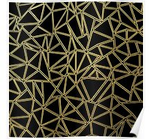 Abstract Blocks Gold Poster