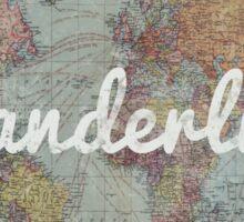 Wanderlust on Vintage World Map Sticker