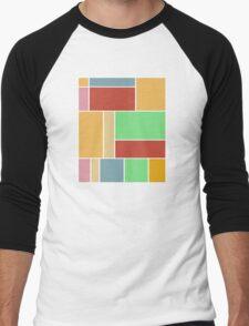 Abstract #347 1960s Palette Men's Baseball ¾ T-Shirt