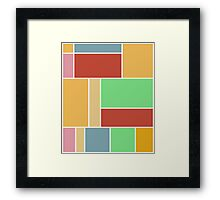 Abstract #347 1960s Palette Framed Print