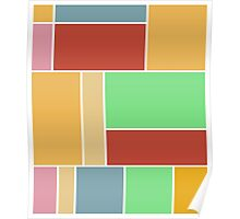 Abstract #347 1960s Palette Poster