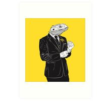 Dapper Lizard Art Print