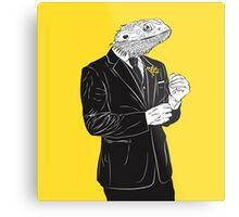 Dapper Lizard Metal Print