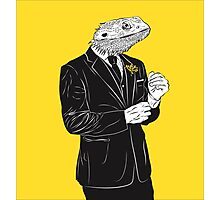 Dapper Lizard Photographic Print
