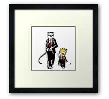 Calvin And Hobbes Partners In Crime Framed Print