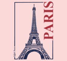 Paris-Eiffel Tower  Kids Tee