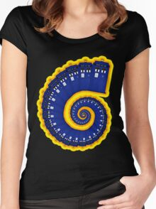 Doctor Who - TARDIS Spiral Women's Fitted Scoop T-Shirt
