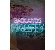 Halsey Badlands Neon Sign Photographic Print