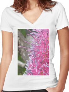 Pretty pink poker Women's Fitted V-Neck T-Shirt