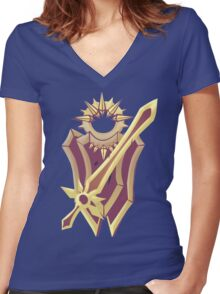League weapons- leona Women's Fitted V-Neck T-Shirt