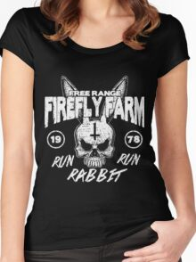 Firefly Farms run rabbit run Women's Fitted Scoop T-Shirt
