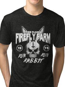 Firefly Farms run rabbit run Tri-blend T-Shirt
