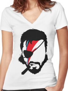 Big Bowie Women's Fitted V-Neck T-Shirt