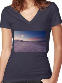 Moon gazers Women's Fitted V-Neck T-Shirt