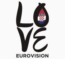 LOVE Eurovision [Croatia] Kids Tee