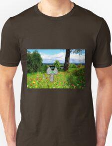 A Cat Enjoying A Graden Unisex T-Shirt