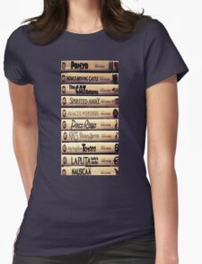 Studio Ghibli Movie Collage Womens Fitted T-Shirt