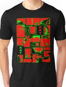 Granny's Things ART in Red Black and Green Unisex T-Shirt