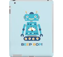 Retro robot with text Beep Bop! iPad Case/Skin