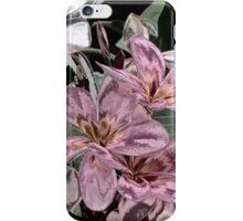 The Metallic Plumeria Collection 3 iPhone Case/Skin