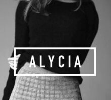 Alycia Debnam-Carey Black and White Name Sticker