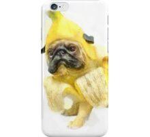 Pug Banana Watercolor iPhone Case/Skin