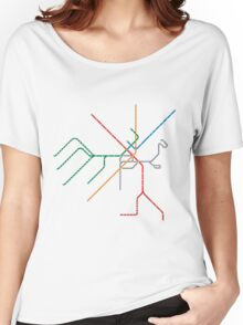 Boston Train Map Women's Relaxed Fit T-Shirt