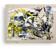 Yet Another Day in the Life, Original mixed media Abstract painting Canvas Print