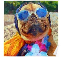 Cool Pug Painting Poster