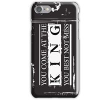 """You Come at the King, You Best Not Miss"" - The Wire (Dark) iPhone Case/Skin"
