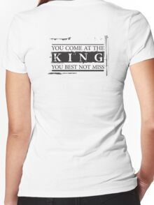 """You Come at the King, You Best Not Miss"" - The Wire (Dark) Women's Fitted V-Neck T-Shirt"