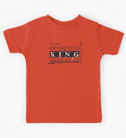 """You Come at the King, You Best Not Miss"" - The Wire (Dark) Kids Tee"
