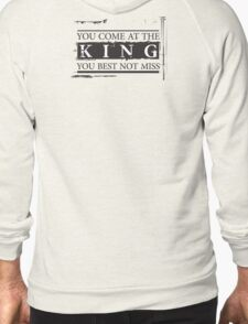 """You Come at the King, You Best Not Miss"" - The Wire (Dark) Zipped Hoodie"