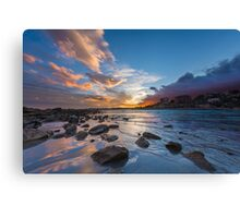 Sunset at Cala del Morro Blanc Canvas Print