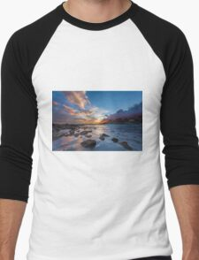 Sunset at Cala del Morro Blanc Men's Baseball ¾ T-Shirt