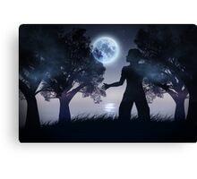 Lonely Night Landscape 2 Canvas Print