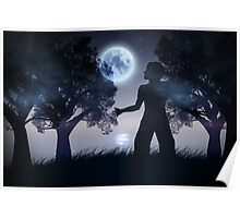 Lonely Night Landscape 2 Poster