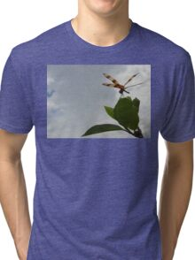 Dragonfly on Mangrove Photo Tri-blend T-Shirt