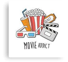 Movie Addict Canvas Print
