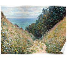 1882-Claude Monet-Road at La Cavée, Pourville-60 x 81 Poster