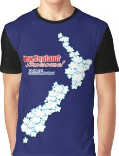 The Land of The Long White Cloud, New Zealand Graphic T-Shirt